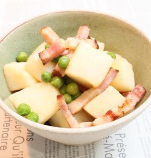 長芋のベーコン煮