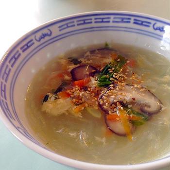 あまったセロリの葉で絶品かんたん中華スープ