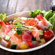 海鮮居酒屋風をCafe風に・Seafood Salad Bowl
