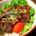ガーリックステーキのRice Bowl (丼)