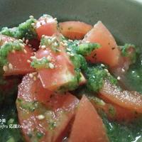 【応援 野菜のレシピ】生姜の風味でさわやか♪トマトの緑酢和え