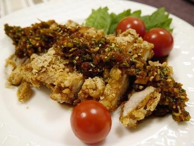 ★ 油淋鶏(ユーリンチー)&色の良い揚げ出汁ナス