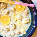 白菜と豚バラ豆腐ボールのクリームスープ♡