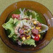 カルパスと野菜のバルサミコ酢風味サラダ