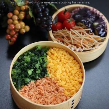 3色丼と惣菜bento♪