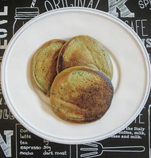 【簡単!糖質OFF!】大豆粉で糖質80%OFF♪抹茶パンケーキ