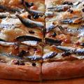 自家製オイルサーディンのピザ