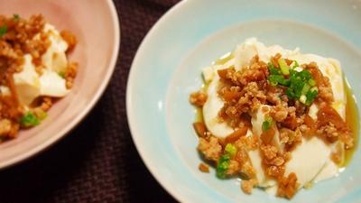 メンマの肉そぼろ豆腐   画期的な食器用洗剤が登場!「キュキュットCLEAR泡スプレー」