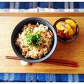 今年ラストのママの愛情宅急便♡( ´艸`)我が家の定番!!豚肉で炊き込みご飯です♬