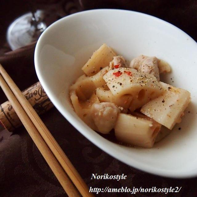 ロゼワインに合う*鶏とれんこんの中華風レンジ蒸し