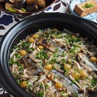 秋刀魚としめじの土鍋で炊き込み生姜ごはん*ヤマキだし部