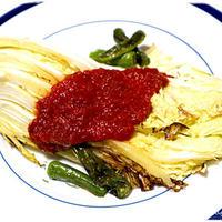 ■グリル白菜のアラビアータ■白菜が高級すぎるので主役に♪