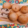おせちの残りの黒豆活用!黒豆の煮汁を使った黒豆パン(自家製酵母パン) by tomoさん