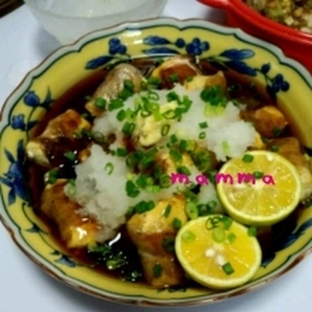 ☆カリカリ豚巻き豆腐のスダチあんかけレシピ☆