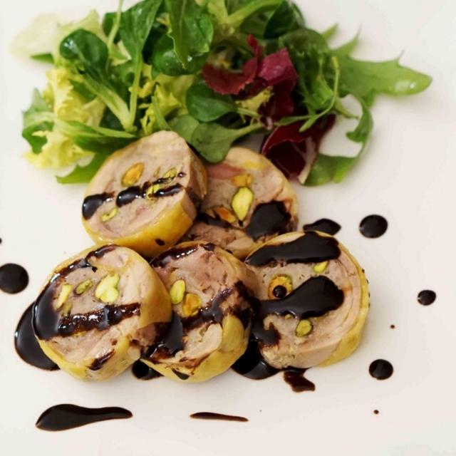 冷めてもおいしい おもてなし料理 鶏のガランティーヌ バルサミコソース