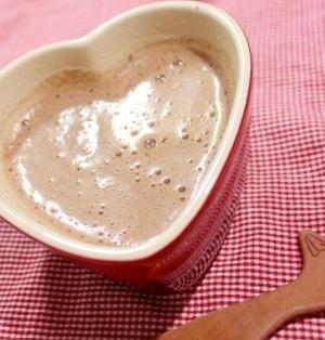 【糖質制限】低糖白餡で♪ホットチョコレートぜんざい