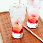 桜のドリンク