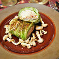 サーモンのファルシ。ロールキャベツみたいで煮込でない秋のレシピ。