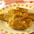 お豆腐巻き豚バラ肉のピカタ