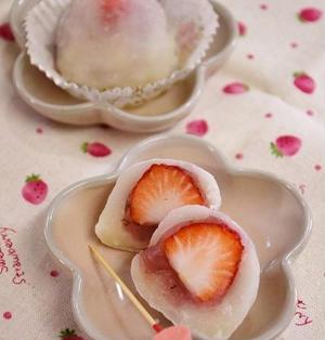 ひとくち桜いちご大福