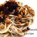 庶民的な美味しい食材♪♪ かつお梅の納豆素麺。°