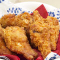 【洋食】「カリカリ☆フライドチキン」&新じゃがと新玉ねぎでジャーマンポテト&マカロニサラダで晩ごはん。