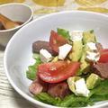 簡単にデリの味!アボガド&ステーキのデリサラダ