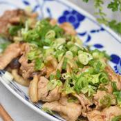 四川風 豚肉ときのこの炒めもの