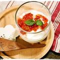 ■さくらんぼのレアチーズ風デザート■レンジ de 簡単 さくらんぼジャム