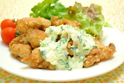 柚子こしょう風味の鶏のから揚げ 〜柚子こしょうタルタルソース〜