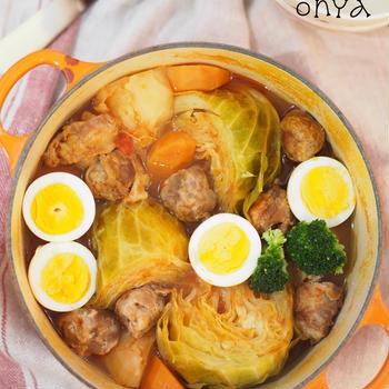 【連載】調味料1つでこんなに美味しい♡トマトキャベツと肉ボールの洋風おでん♡