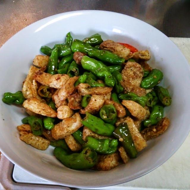 しし唐と揚げの炒め物のレシピ