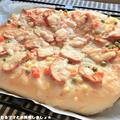 HBで簡単★タンドリー風サラダチキンピザ