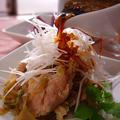 「蒸し鶏の搾菜和え」