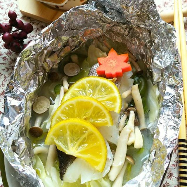 フライパンで作る☆鱈のかぼすホイル焼き