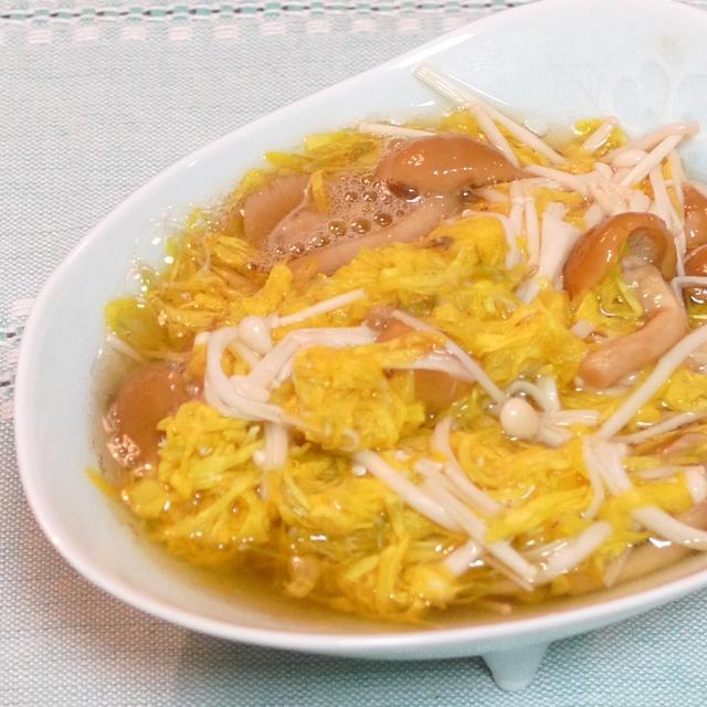 食用菊とナメコの和え煮