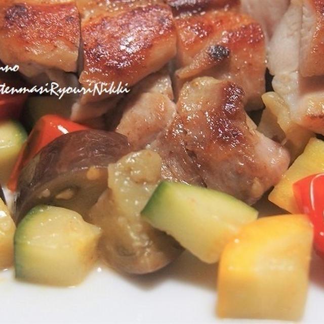 ズッキーニ使い切り 鶏もも肉と夏野菜のソテー &鱈と夏野菜の南蛮漬け
