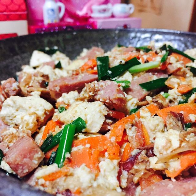 米ぬかで豆腐チャンプル♪