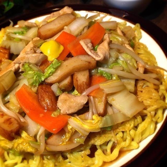 ご飯が足りない時は白菜たっぷり あんかけ焼きそば