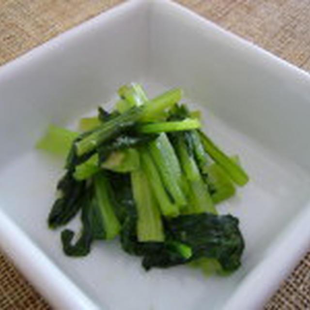 きのうのおつまみ  小松菜の塩炒め