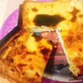 【トーストアレンジ】生クリーム不使用☆材料4つ&トースターで簡単!バスクチーズケーキトースト