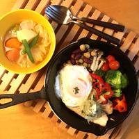カジキマグロのソテーとお野菜