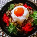 スタミナにんにく牛丼TKG♪TKG=卵がけご飯です! by ハッピーさん