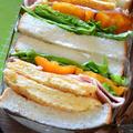 ふわっふわんの卵焼きレシピ ハムたまごサンドウィッチ by 青山 金魚さん