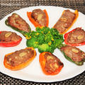 落花生と柚子胡椒de食感と風味を楽しむ肉詰めピーマン