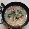 パセリの栄養素は、侮れない(*゚ロ゚*) 【パセリとカニかまの玉子スープ】