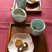 橘屋吉兵衛の新商品「ミニ茶席で春のおもてなし」。