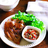 レモンバジルガーリックトマトたれde豚カルビ焼き肉