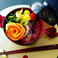 にんじん薔薇と鮪の洋風漬け丼