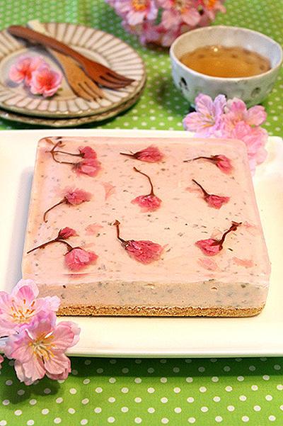 なめらか~桜の春レアチーズケーキ☆